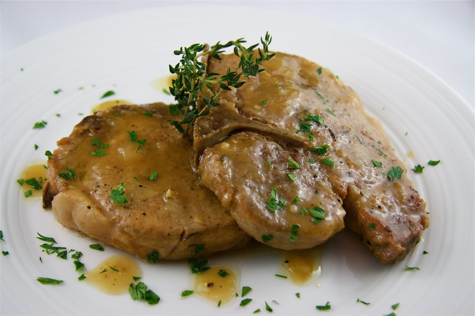 Recipe braised pork chops cider