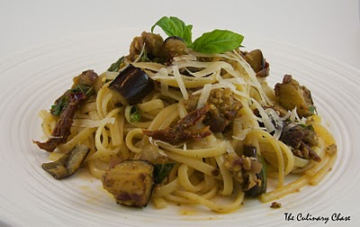 Linguine with Roasted Eggplant, Sun-Dried Tomatoes and ...