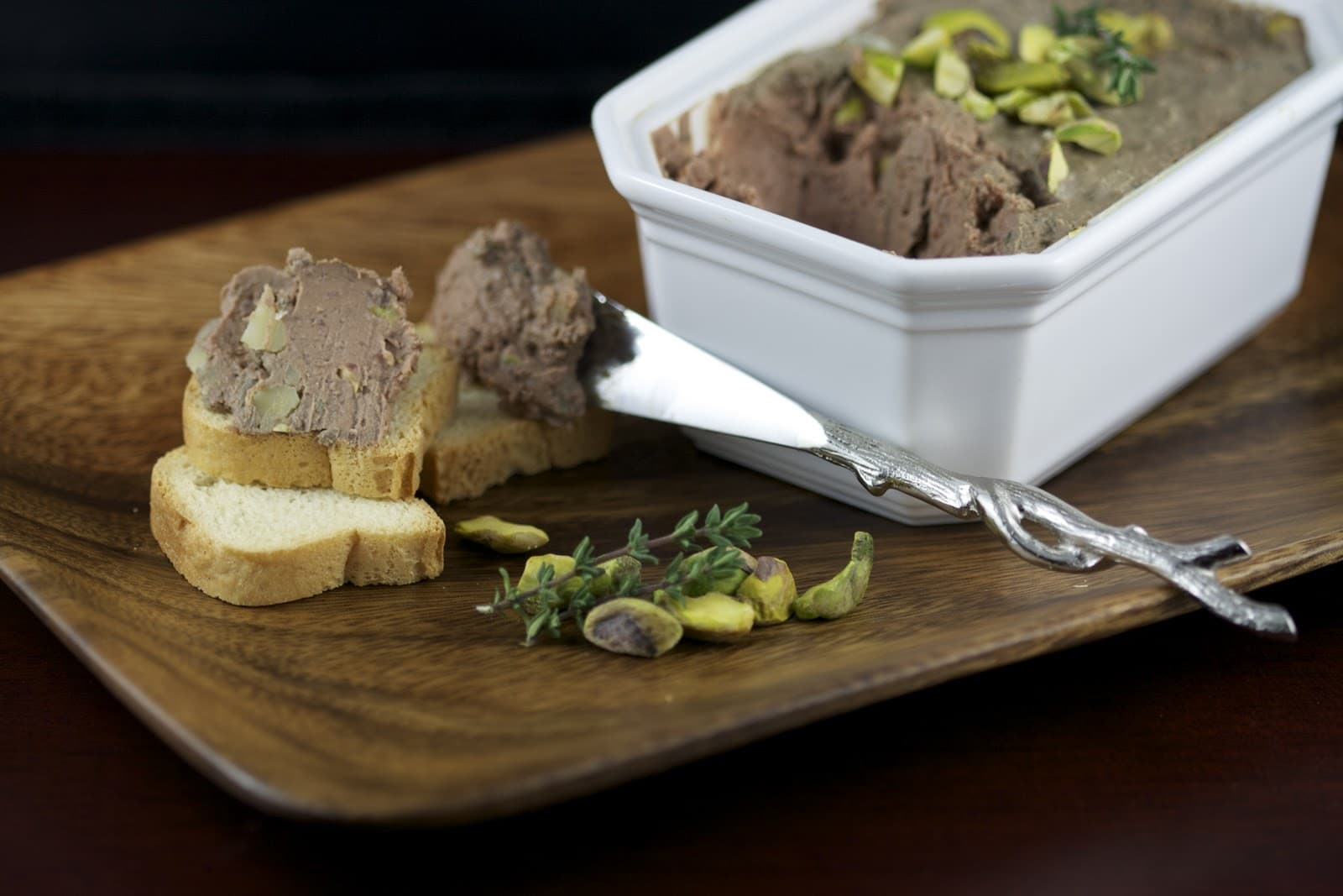 Cognac and Pistachio Chicken Liver Pâté - The Culinary Chase