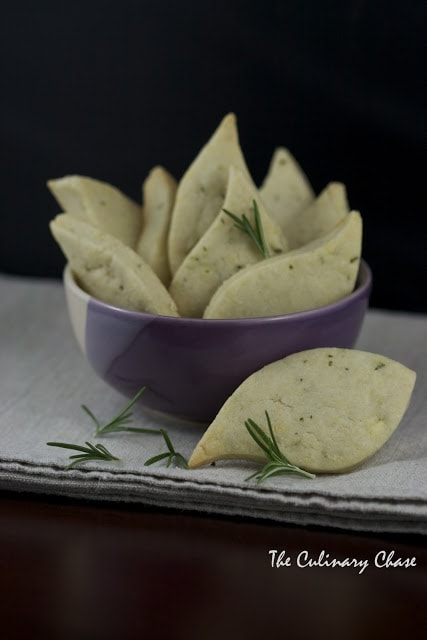 Stilton and Rosemary Shortbread - The Culinary Chase