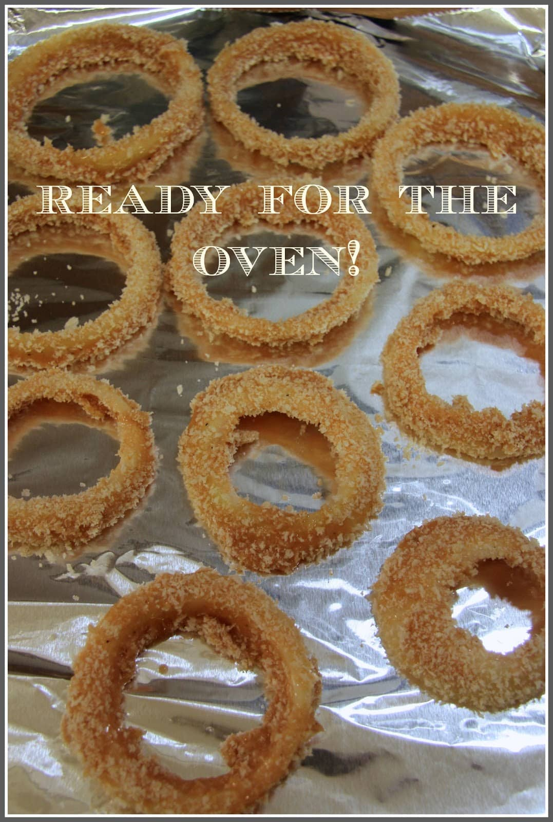 Baked Barbecue Onion Rings - The Culinary Chase