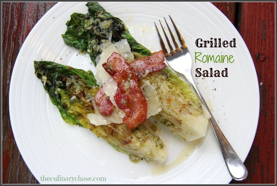 Grilled Romaine Wedge Salad Grilled romaine. '