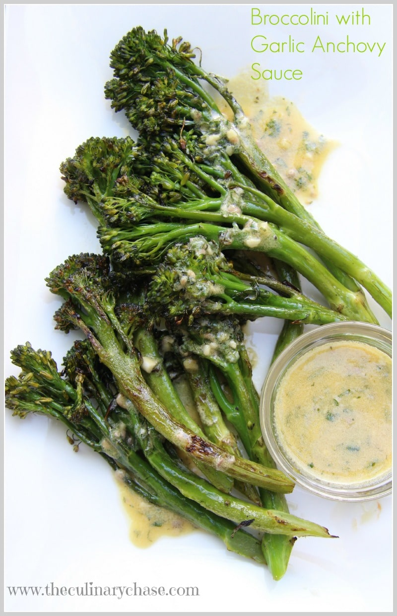 broccolini with garlic anchovy sauce