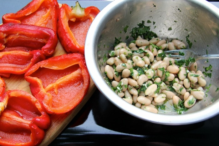 roasted red peppers & white beans