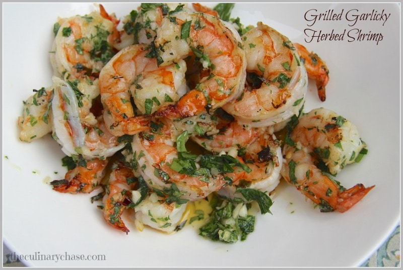 Grilled Garlicky Herbed Shrimp
