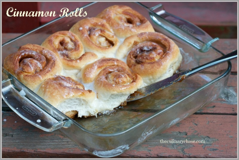 cinnamon rolls by The Culinary Chase