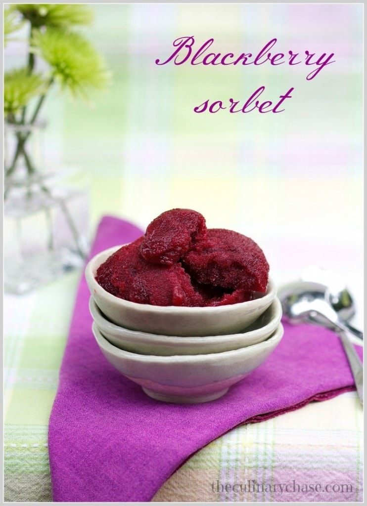 blackberry sorbet by The Culinary Chase