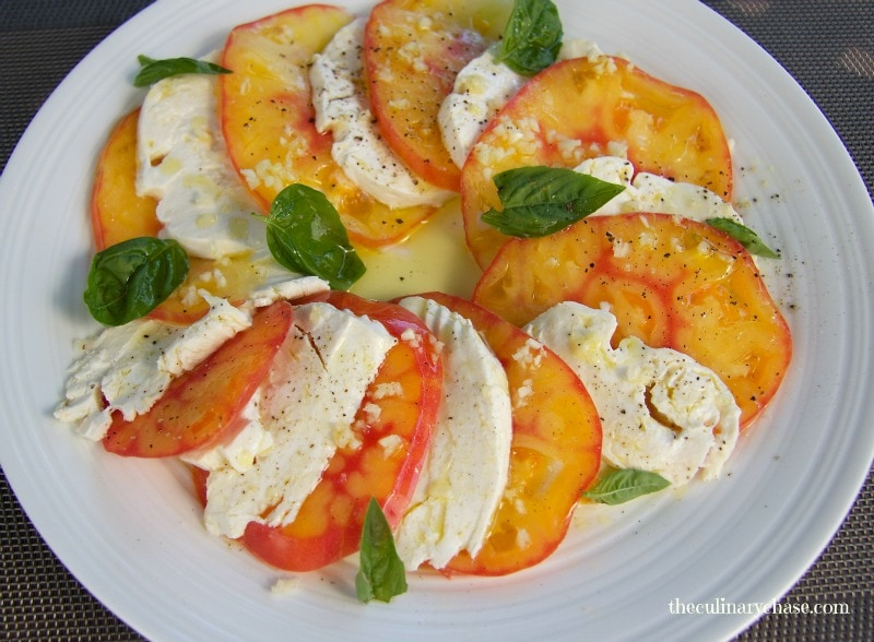 caprese salad by The Culinary Chase