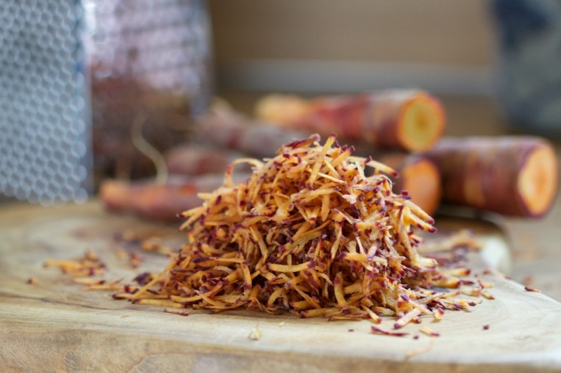 grated carrot by The Culinary Chase