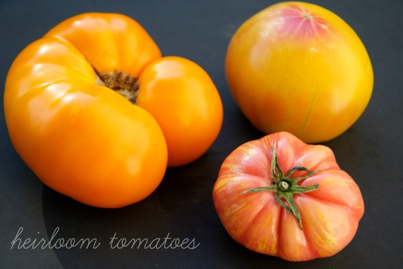 heirloom tomatoes by The Culinary Chase