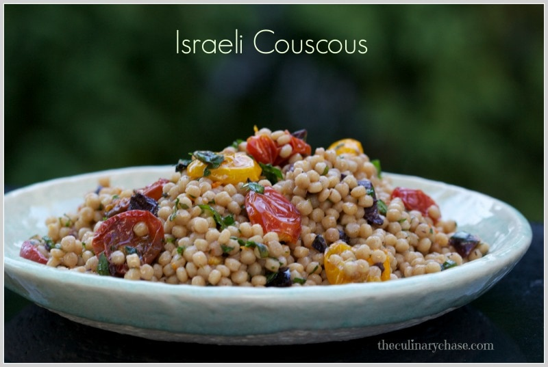 Israeli Couscous with Roasted Tomato Dressing by The Culinary Chase