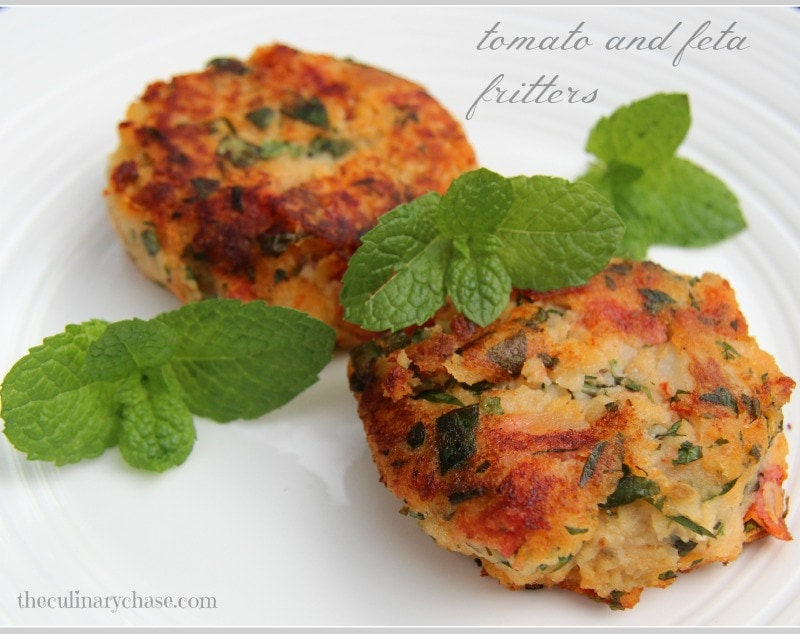 tomato & feta fritters by The Culinary Chase