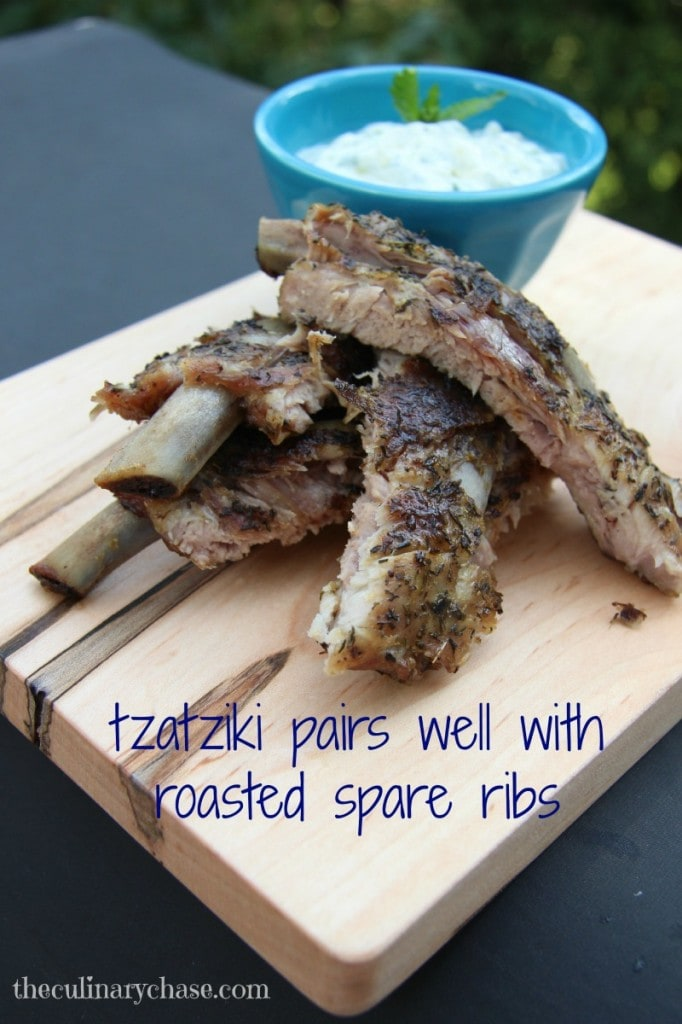 tzatziki with roasted spare ribs