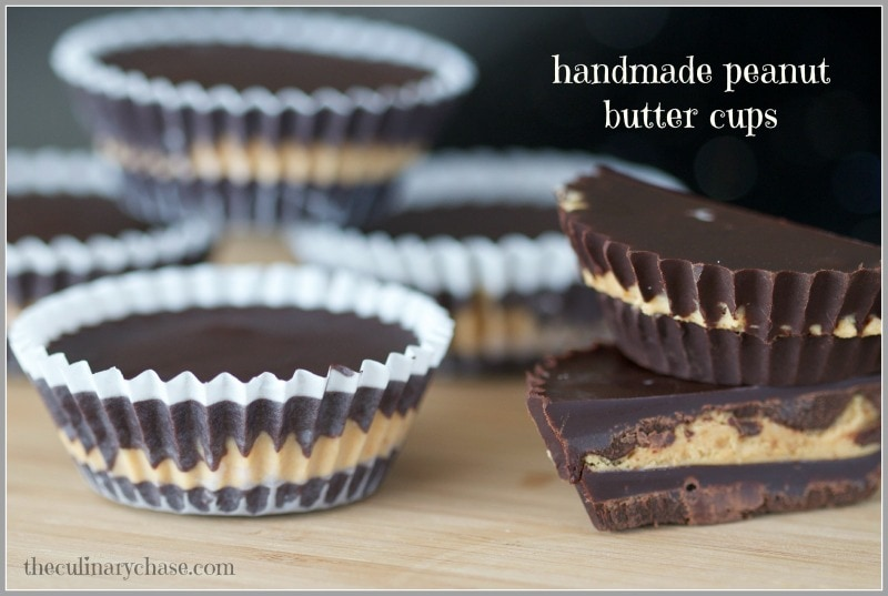 handmade peanut butter cups by The Culinary Chase