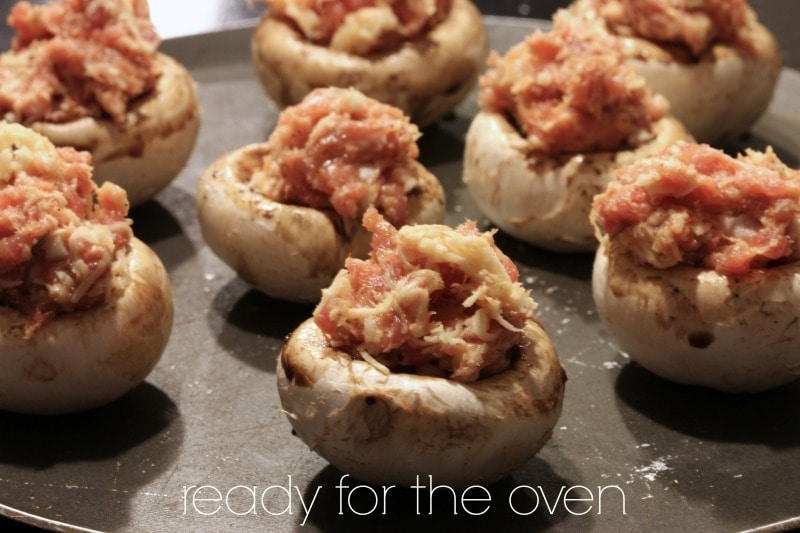 stuffed mushroom caps by The Culinary Chase