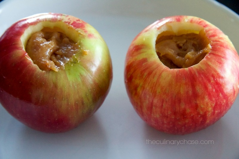 apples stuffed with caramel by The Culinary Chase