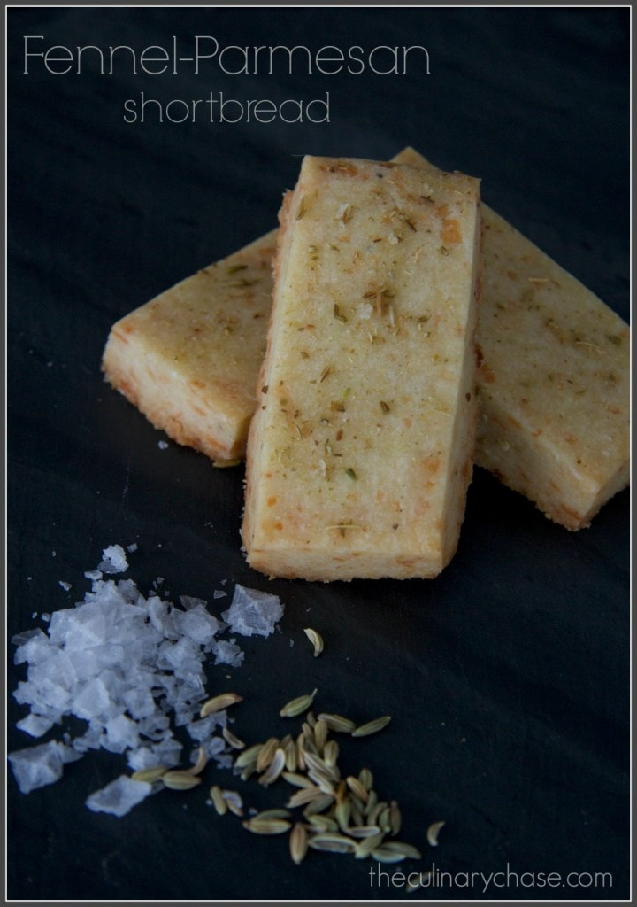 fennel-parmesan shortbread byThe Culinary Chase