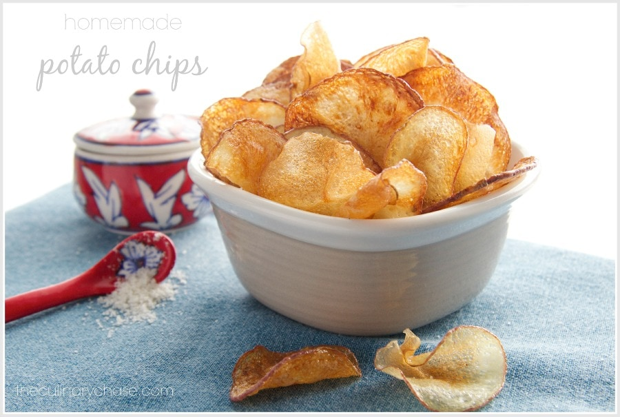 homemade potato chips by The Culinary Chase