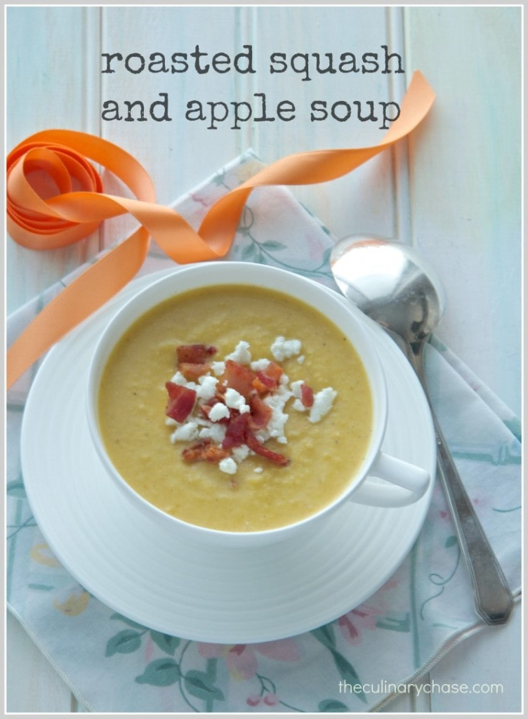 roasted squash & apple soup by The Culinary Chase
