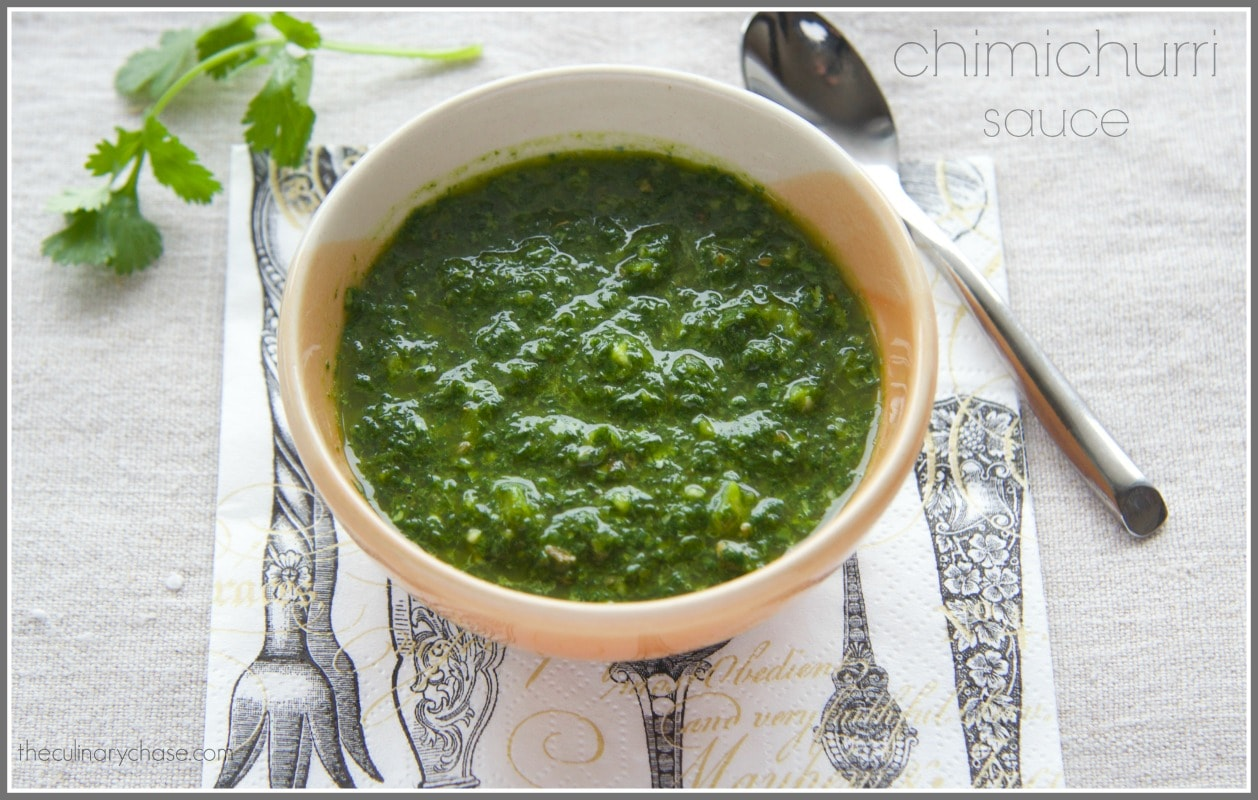 Chimichurri Sauce by The Culinary Chase