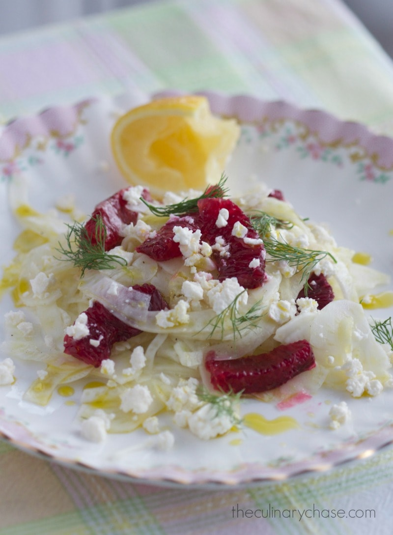 blood orange & fennel salad by The Culinary Chase