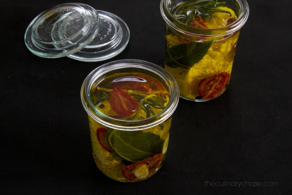 marinated feta by The Culinary Chase