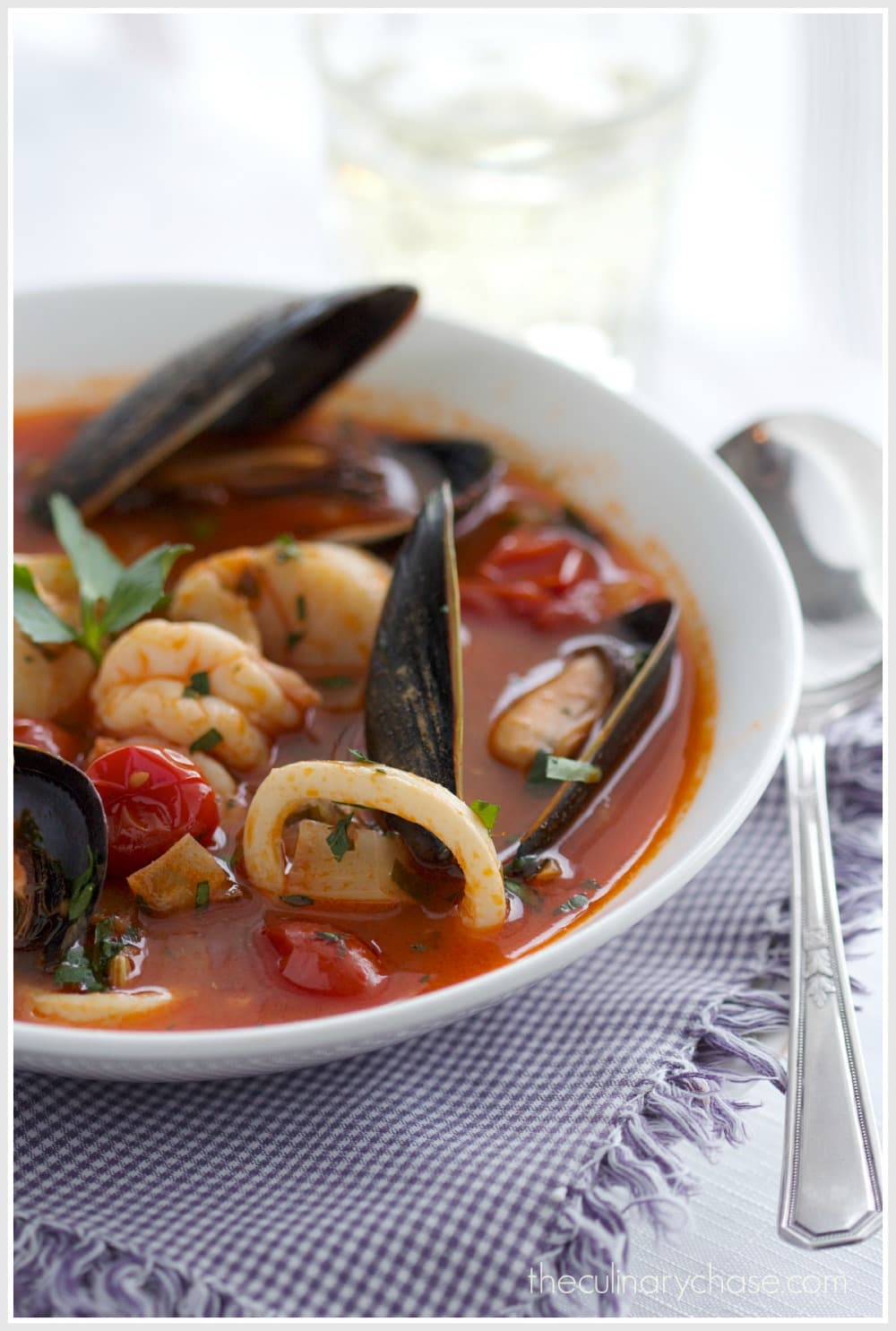 seafood soup by The Culinary Chase