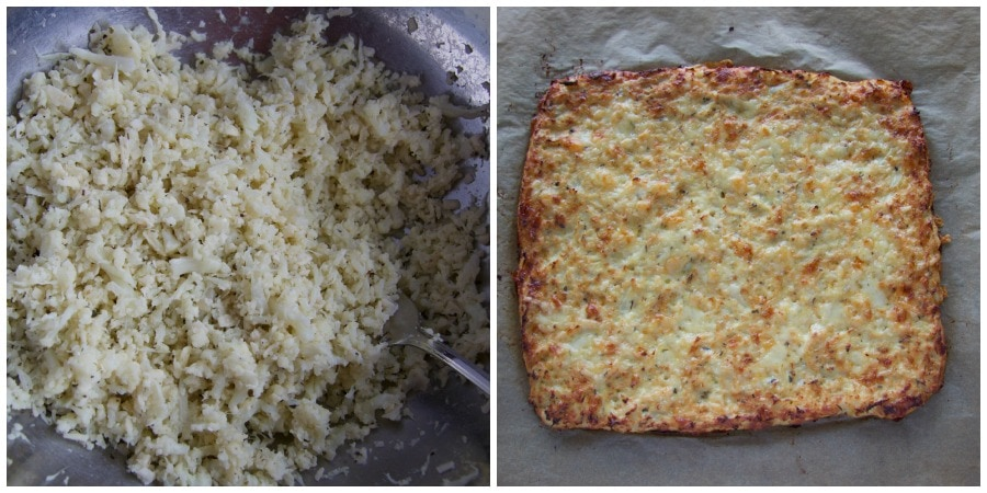 cauliflower breadstick Collage