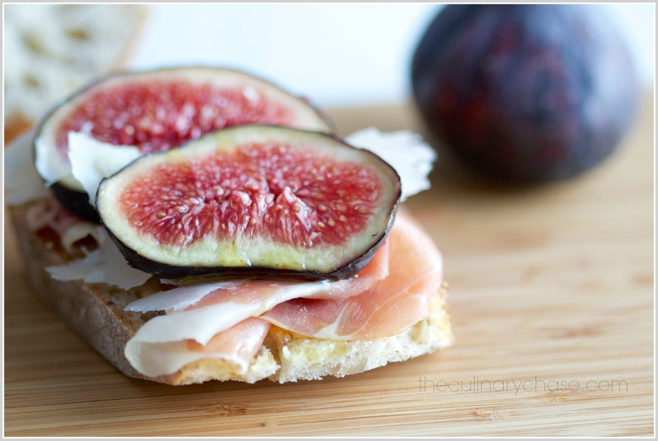 fig crostini by The Culinary Chase