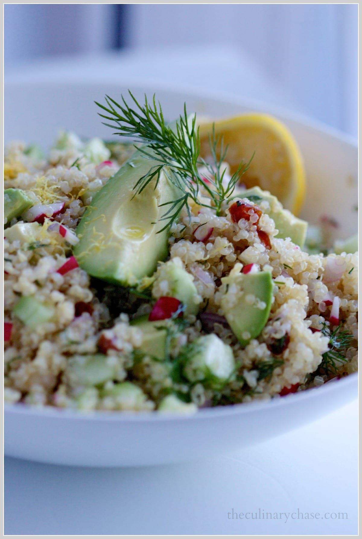dill and zucchini toasted quinoa saute with lemony cabbage and dill ...