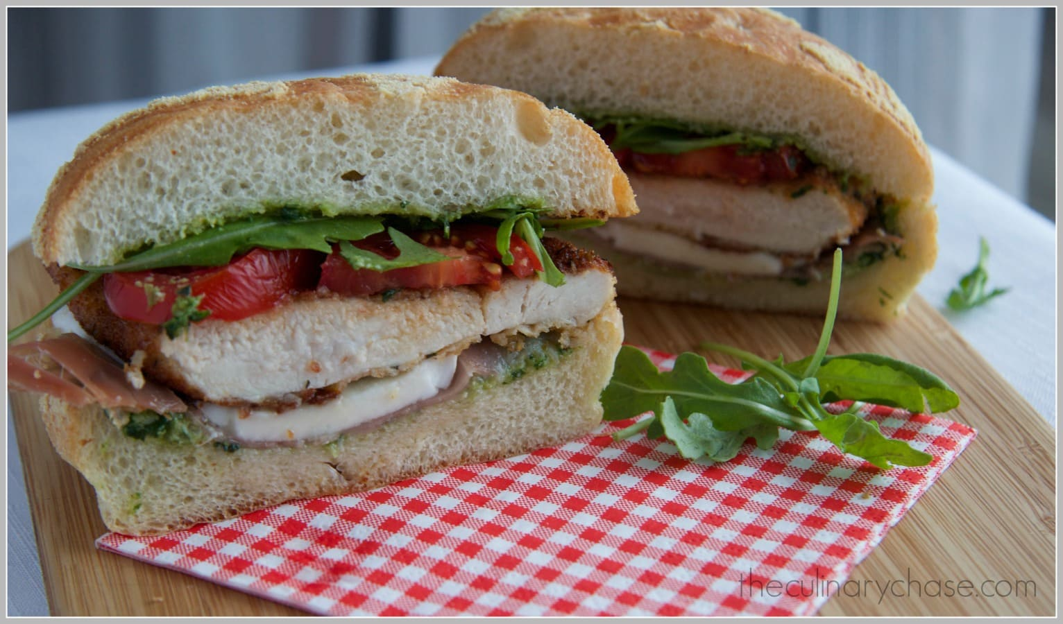 turkey cutlet sandwich by The Culinary Chase