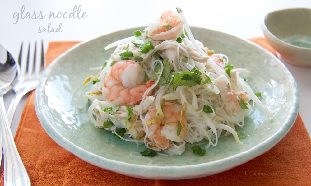 glass noodle salad by The Culinary Chase