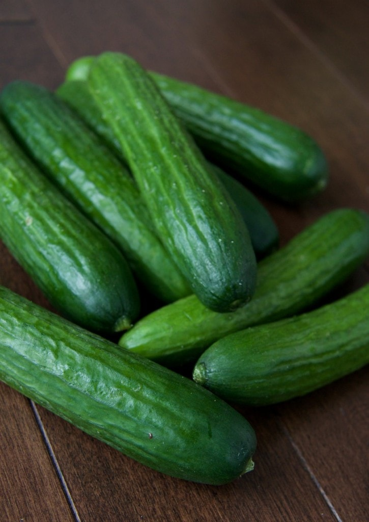 mini cucumbers by The Culinary Chase