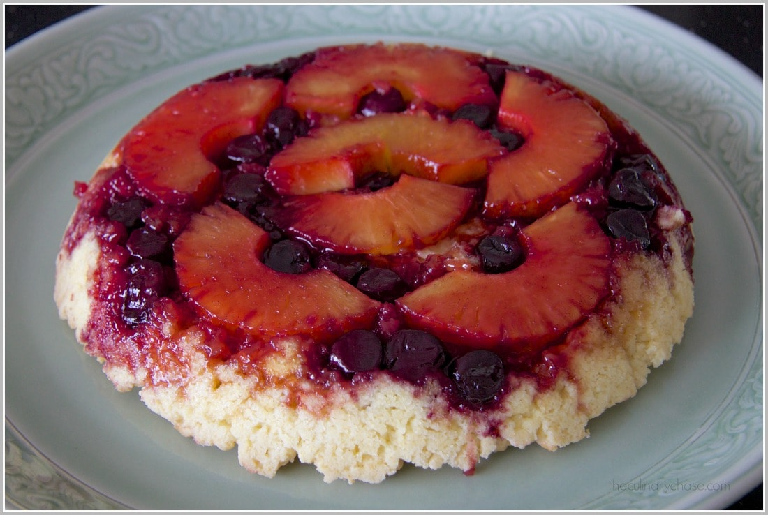 pineapple cherry upside-down cake by The Culinary Chase