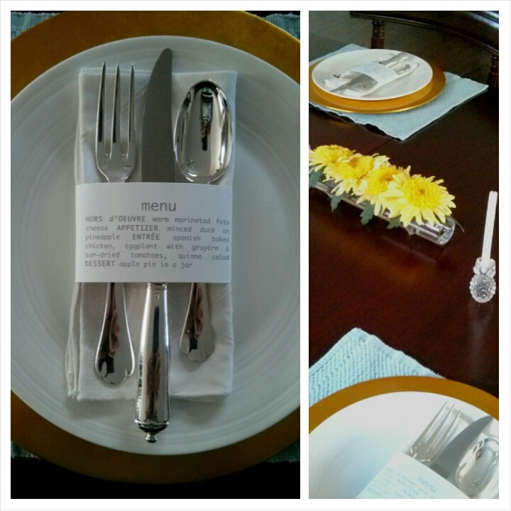 table setting by The Culinary Chase