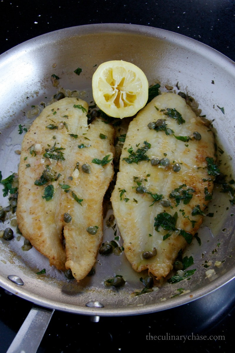 fish piccata by The Culinary Chase