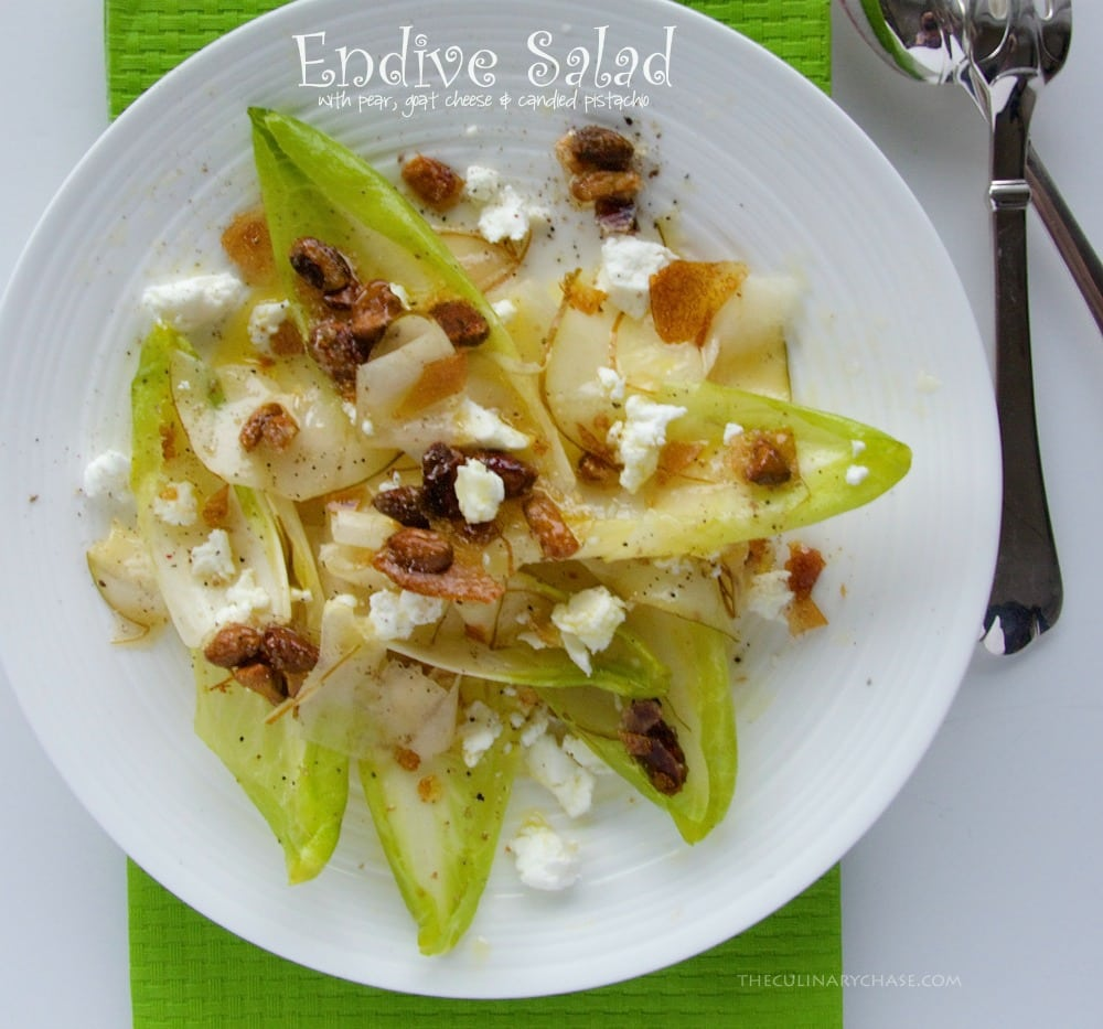 endive salad by The Culinary Chase