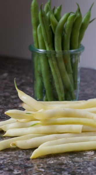 yellow & green string beans