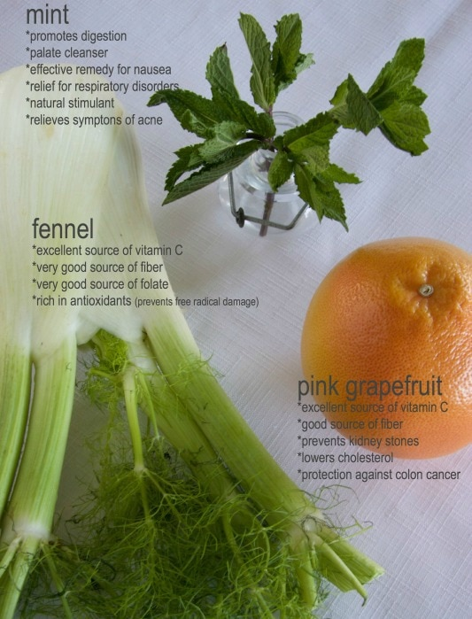 fennel mint grapefruit