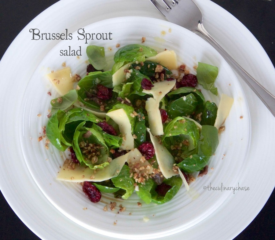 Brussels Sprout Salad - The Culinary Chase