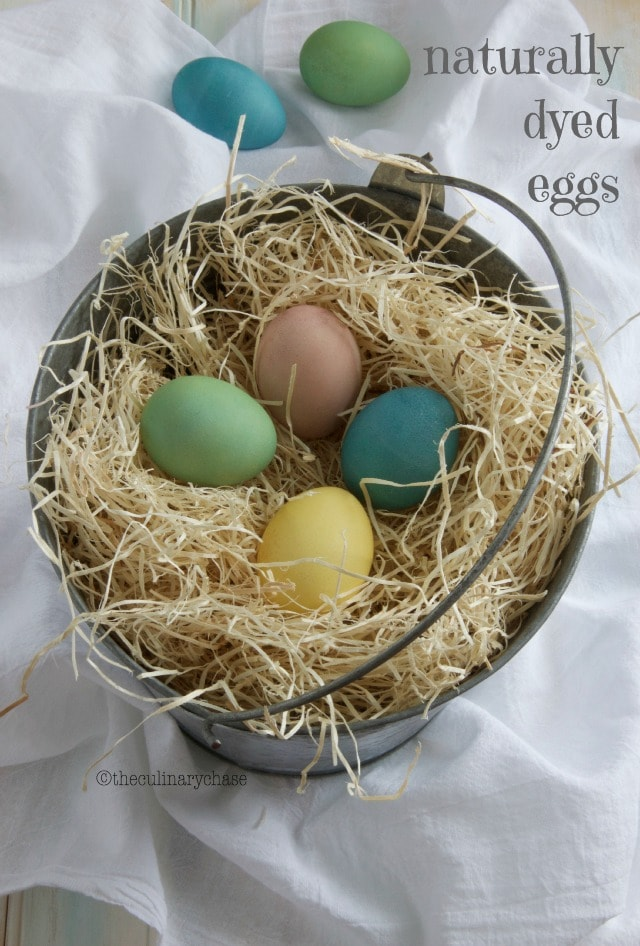 Naturally Dyed Eggs - an Easter Treat! - The Culinary Chase
