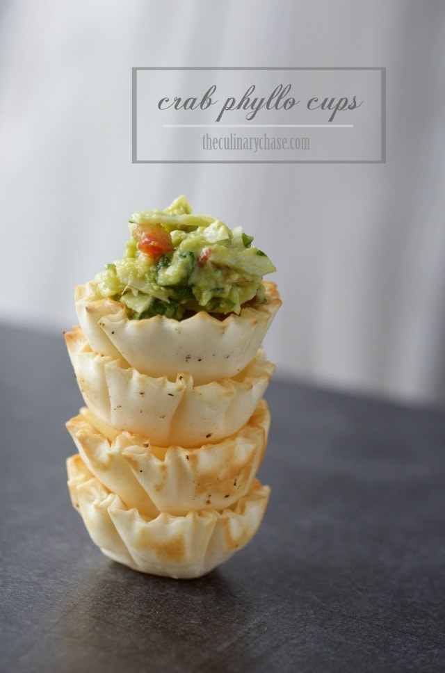crab phyllo cups by The Culinary Chase