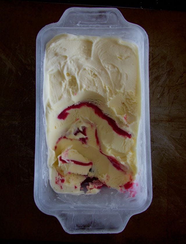 redcurrant ripple icecream
