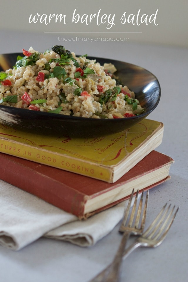 warm barley salad