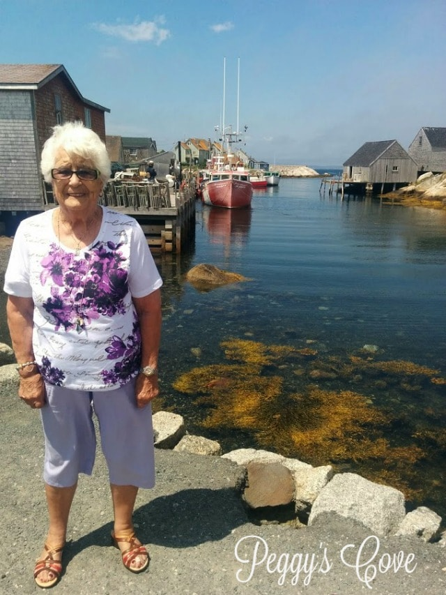 Aida at Peggys Cove