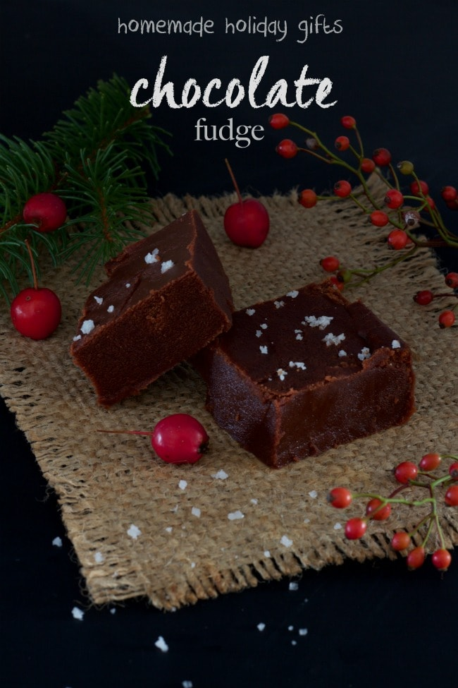chcolate fudge - homemade holiday gift