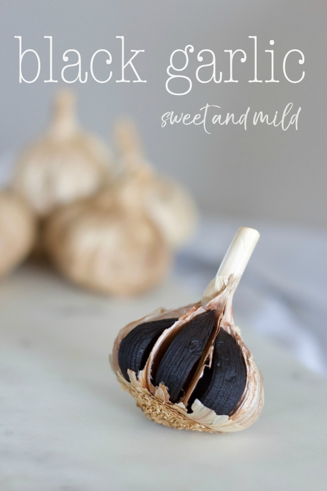 black garlic, sweet & mild