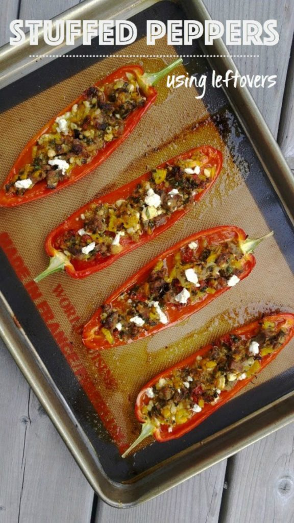 stuffed peppers using leftovers