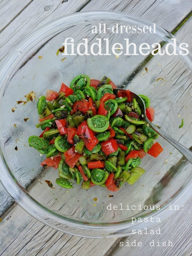 all-dressed fiddleheads