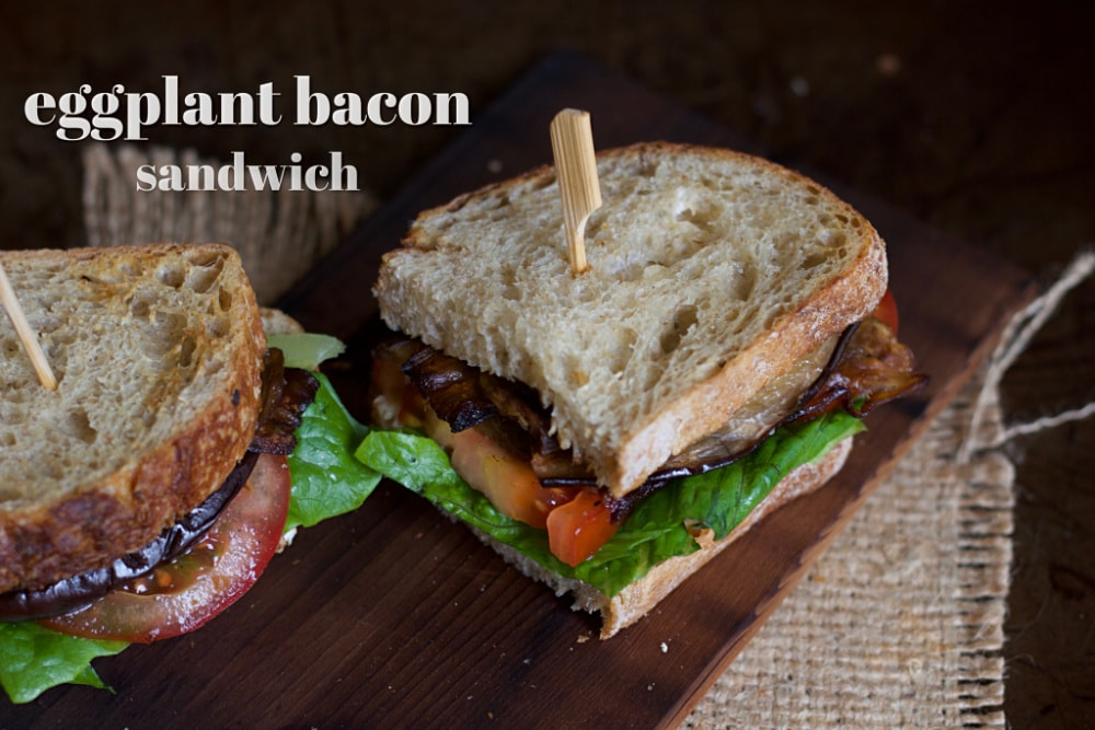 eggplant bacon sandwich